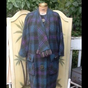 🎉 HOST PICK🎉BEAUTIFUL VTG WOOL PLAID COAT