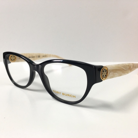 67600356348 New Tory Burch Eyeglasses Black and Ivory