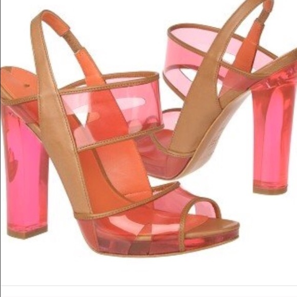 d034348daa9 ... pink lucite heels sandals. M 58287a344225be393106f526