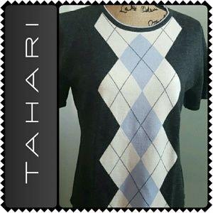 Tahari Sweaters - Tahari Short Sleeves Wool Sweater