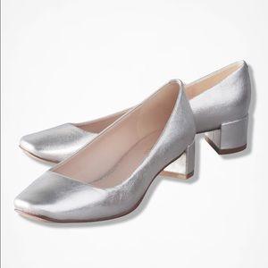 Nine West Shoes - Nine West Silver Block Heel Pumps