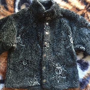 Celestial fuzzy winter jacket