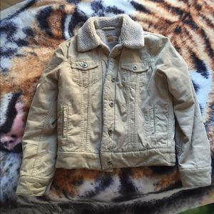 Trucker Sherpa-lined jacket
