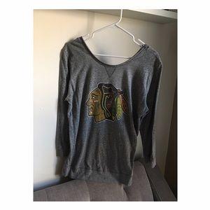 Original Retro Brand Sweaters - Blackhawks Sweatshirt