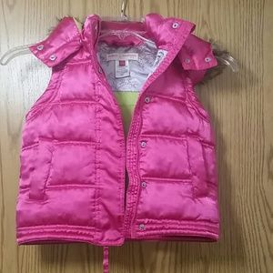 Mimi & Maggie Other - Girls Hot Pink Peace Puffer Vest