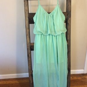 Seafoam green maxi dress Size:L