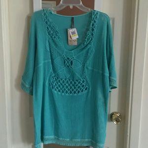 XCVI Tops - Crochet tunic
