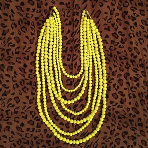 Neon Yellow 7 Strand Necklace
