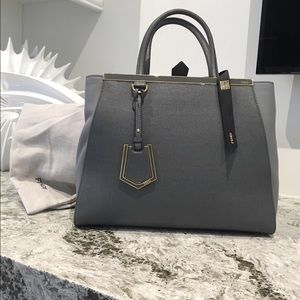 Fendi Handbags - Fendi medium 2jours tote in gray. Never used.