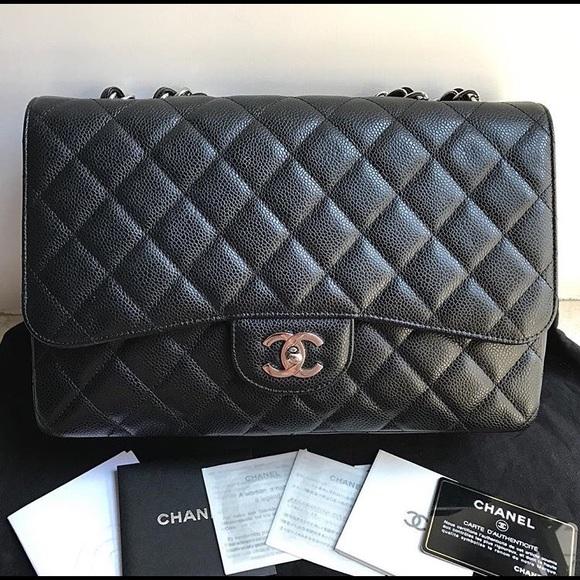 ae900278d70e32 CHANEL Bags   Jumbo Caviar Single Flap Shw   Poshmark