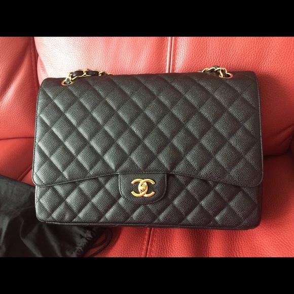 ff38c1a853b671 CHANEL Bags | Single Flap Maxi Caviar Ghw | Poshmark