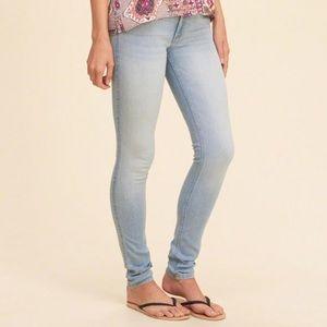 Light Wash Hollister Super Skinny Jeans
