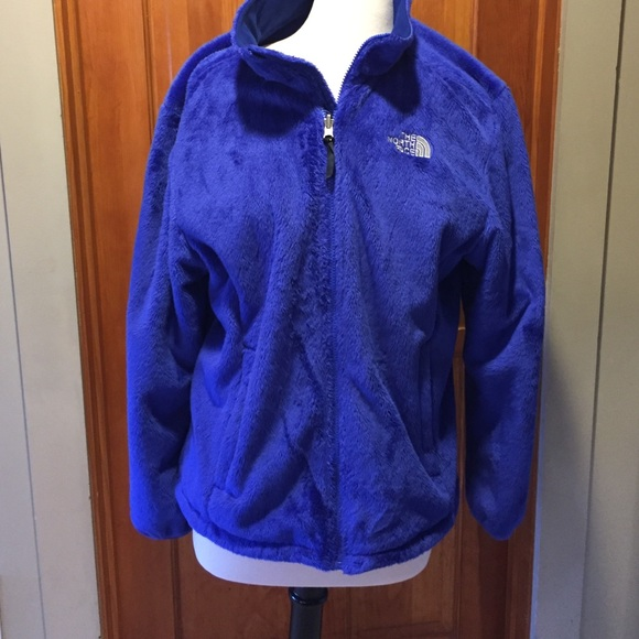 67c293930 North Face blue fluffy fleece jacket-