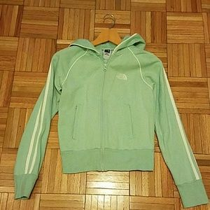 North Face Jackets & Blazers - Last chance!! North Face Light Green Zip Hoodie