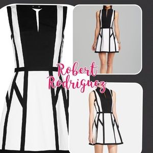Robert Rodriguez black and white dress