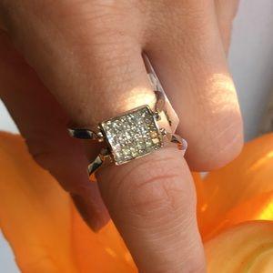 Jewelry - NWT White & Black Silver Diamond Reversible Ring