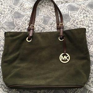 Michael Kors Loden Green & Gold Tote Shoulder Bag