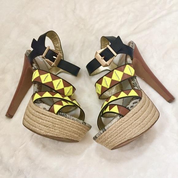 5f999584e Circus by Sam Edelman Shoes - Sam Edelman Dawson Leather Platform Heels