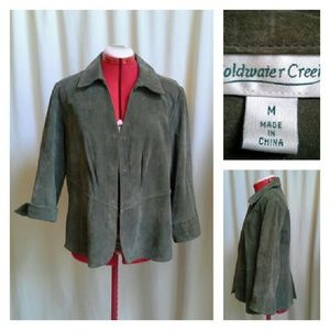 Coldwater Creek Jackets & Blazers - COLDWATER CREEK Suede Shirt Jacket