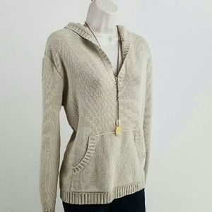 Lord & Taylor Sweaters - Lord & Taylor tan hooded sweater