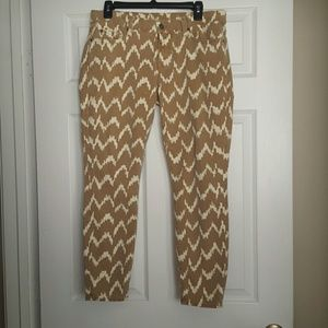 7 for All Mankind 7FAM cropped skinny ikat jeans