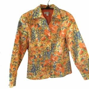 Coldwater Creek cotton brocade jacket
