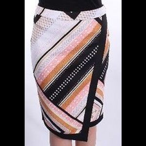 Bar III Dresses & Skirts - Bar Iii Printed Scuba Envelope Skirt B40