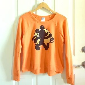 halloween mickey l/s top xs