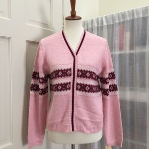 Cherokee Other - Pink knit button up sweater