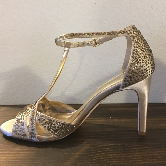 67% off ANTONIO MELANI Shoes - Antonio Melani gold jeweled heels ...
