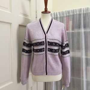 Cherokee Other - Lavender knit button up sweater