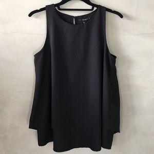 Double layered sleeveless blouse