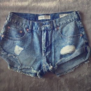 BULLHEAD denim shorts SZ 5