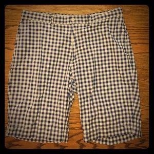 Polo Ralph Lauren sz 35 men's shorts blue gingham