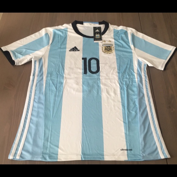 0b62e6a742c Adidas Shirts | Argentina Home Jersey Messi 10 Soccer Men | Poshmark