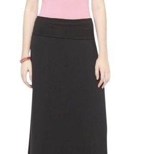 Mossimo Supply Co. Dresses & Skirts - Mossimo Black Maxi Skirt with Fold Over Waistband