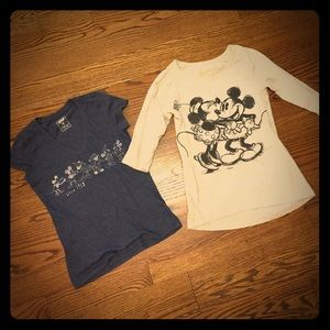 Lot of two Disney World shirts XS Mickey Mouse