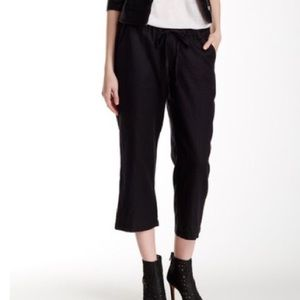 Allen Allen Pants - New Nordstrom Allen Allen S BLACK Linen Crop Pant