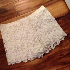 NWOT Joe Fresh white lace shorts. Size 6