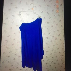 Dresses & Skirts - Blue one shoulder bodycon dress