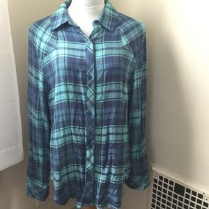 Thread + Supply Tops - Blue Flannel Shirt