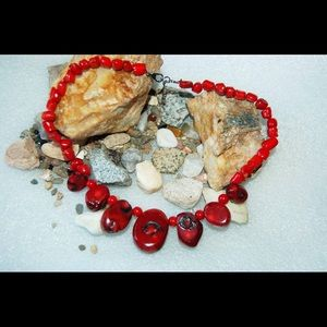 handmade & handcrafted gemstone jewelry Jewelry - Red Coral Necklace