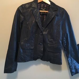 Old navy M leather lined blazer jacket