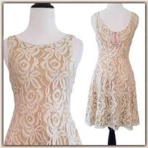 Philosophy Dresses & Skirts - NWT Philosophy Nude and Ivory lace dress