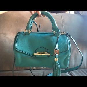 Aimee Kestenberg Handbags - Aimee cross body turquoise purse with tassel