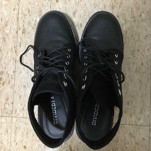 Block heel booties!