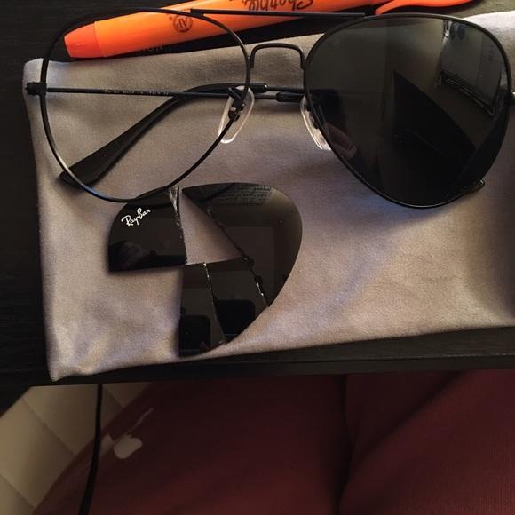 ray ban sunglasses broken  90% off Ray-Ban Accessories - BROKEN ray ban aviators from Laura\u0027s ...