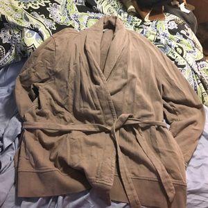 Old Navy sweatshirt material smoking jacket
