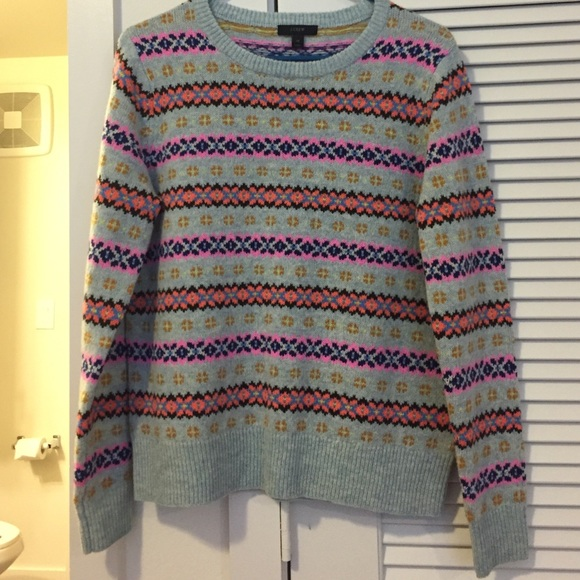 "73% off J. Crew Sweaters - J.Crew ""Holly Sweater"" multi-color Fair ..."