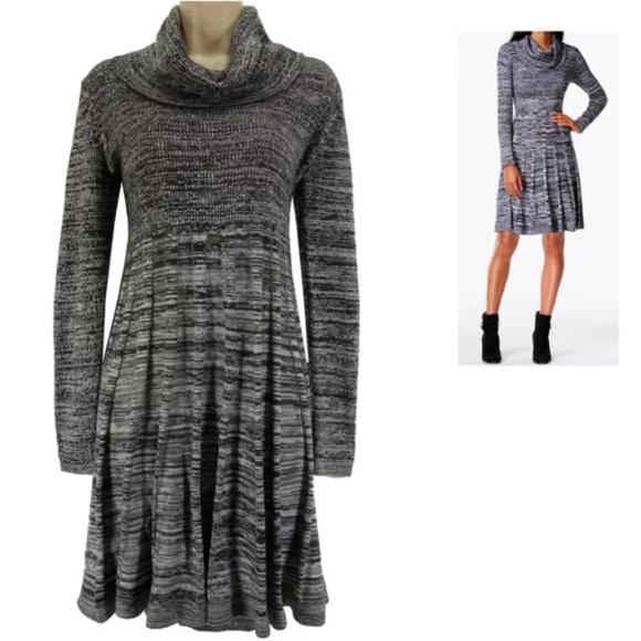 1f44d7de3e Calvin Klein Dresses   Skirts - Large CALVIN KLEIN COWL NECK MARLED SWEATER  DRESS